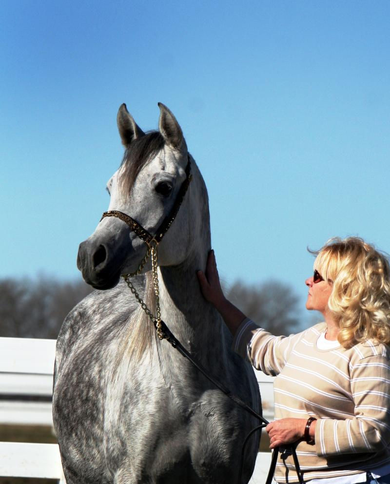 ISIS owner and beloved mare LOLA BARAKI